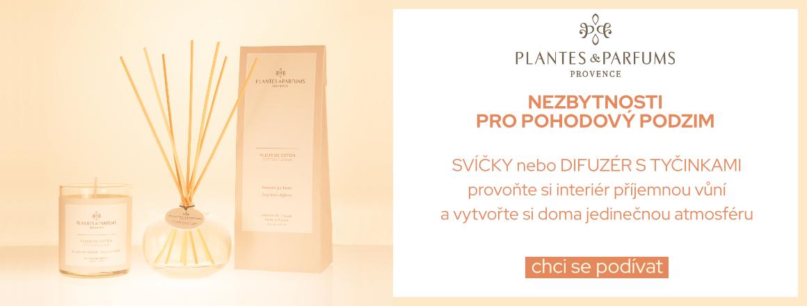 Plantes & Parfums Svíčky a Difuzéry