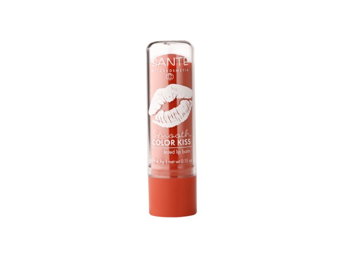 sante smooth color kiss soft coral balzam na rty koralova bio bionaturalia cz