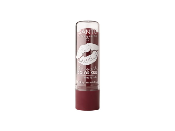 Sante smooth color kiss soft plum barevny balzam na rty bionaturalia cz