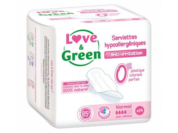 Nouveauté 2018 L&G Serviettes hypoallergéniques Normal x14