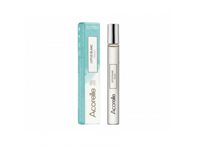 Acorelle eau de parfum roll on bio lotus blanc 10ml