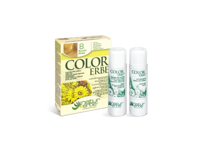 color erbe prirodni barva vlasy bio medova blond 08