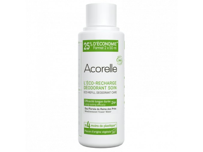 Acorelle Deodorant nahradni napln eco recharge deodorant roll on longue duree bio 100ml bionaturalia.cz