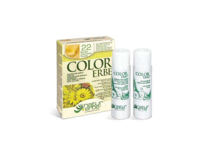 color erbe no 22 barva vlasy prirodni velmi svetla blond 9.3 bionaturalia