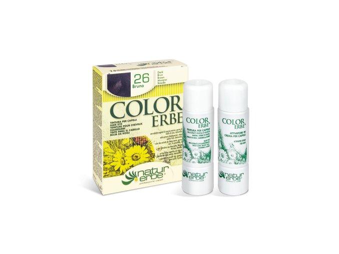 color erbe barva na vlasy no 26 hneda 2.0 bionaturalia