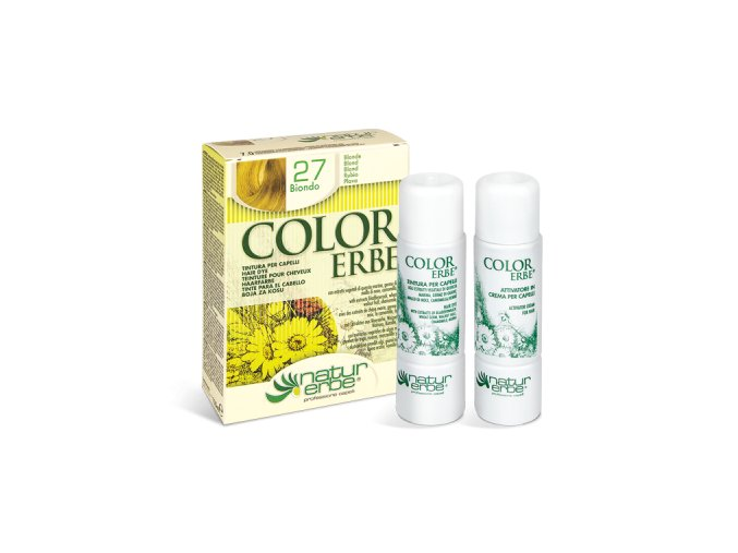Color erbe barva na vlasy no 27 blond 7.0 bionaturalia