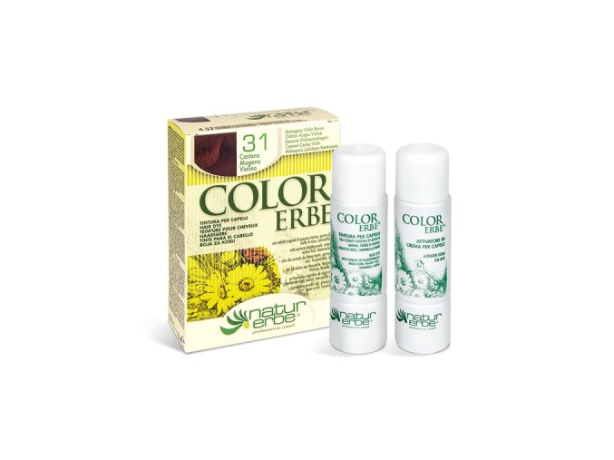 color erbe prirodni barva na vlasy no 31 hnede fialova mahagonova 4.52 bionaturalia