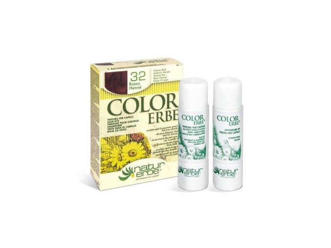 color erbe prirodni barva vlasy no 32 cervena hena 7.66 bionaturalia