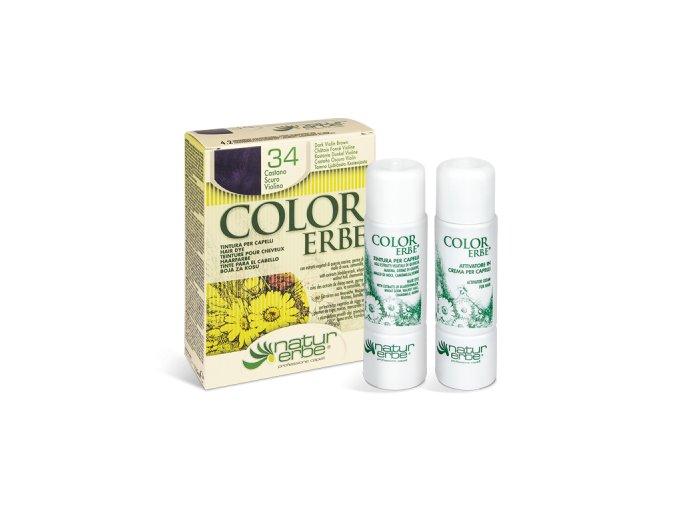 color erbe prirodni barva vlasy no 34 tmave hneda dofialova 4.2 bionaturalia
