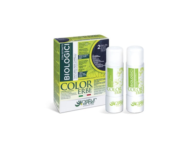 color erbe 2 barva na vlasy bio prirodni modrocerna bionaturalia