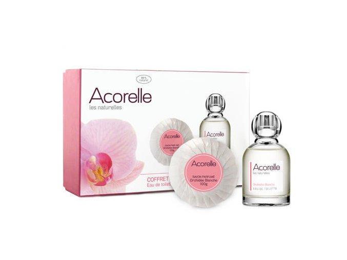 ACORELLE Toaletní voda Bílá orchidej 50ml+ Mýdlo Bílá orchidej 100g Dárková sada