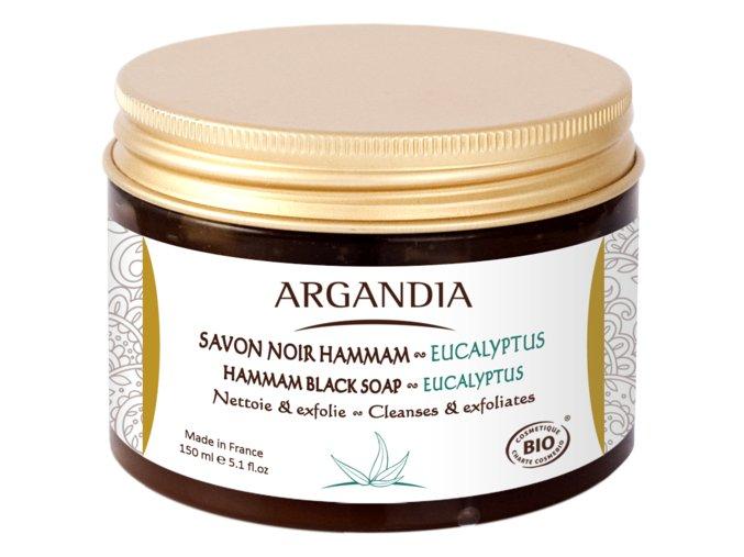 ARGANDIA Hammam černé mýdlo s eukalyptovým olejem 150ml