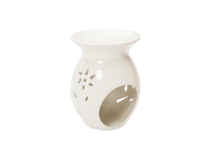 PLANTES ET PARFUMS Aromalampa bílá se svíčkou