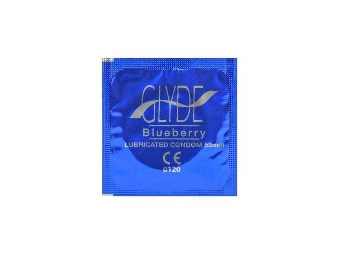 GLYDE Kondom Bluberry 1ks