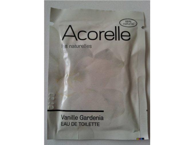 ACORELLE Toaletní voda EDT vanilka gardenia 3ml vzorek vonný kapesník
