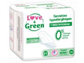Nouveauté 2018 L&G Serviettes hypoallergéniques Super x12