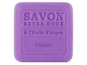 PLANTES ET PARFUMS Mýdlo s arganovým olejem - fialka 100g