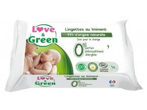 Love and Green vlhcene ubrousky s mastickou na zadeček