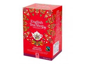 English TeaShop English Breakfast Čaj Fair Trade 20 sáčků BIO