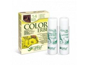 color erbe prirodni barva vlasy bio mahagonova blond 14 7.4 bionaturalia