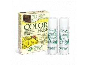 Color erbe barva na vlasy no 20 svetle popelave svetle hneda 5.01 bionaturalia