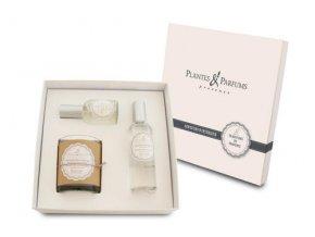 PLANTES ET PARFUMS Aroma Relax s levandulí Svíčka 180g - Parfém do interiéru 100ml - Polštářkový parfém 50ml