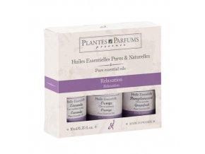 PLANTES ET PARFUMS Sada Éterických olejů Relaxace 3 x 10ml