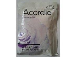ACORELLE Toaletní voda EDT Růže 3ml vzorek vonný kapesníček