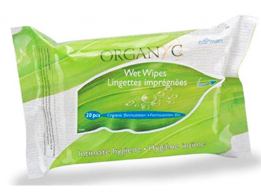 organyc damske cistici ubrousky pro intimni hygienu 20ks