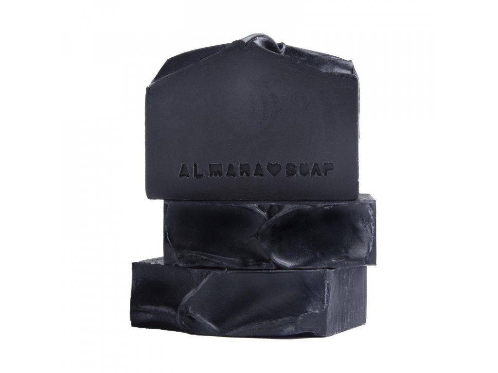 almara soap uhlikove mydlo black as myr soul 80g