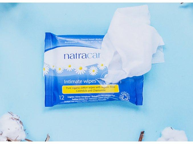 natracare vlhcene ubrousky pro intimni hygienu 12ks