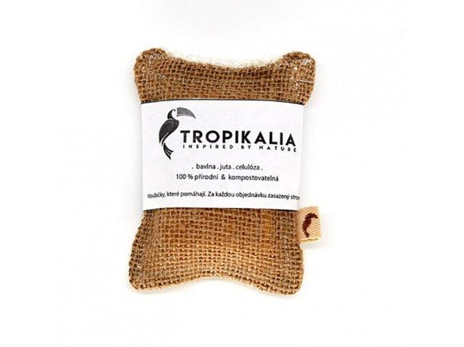 tropikalia kompostovatelna houbicka na nadobi z juty bavlny a prirodni celulozy mensi