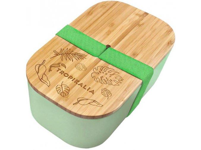 tropikalia lunch box l green