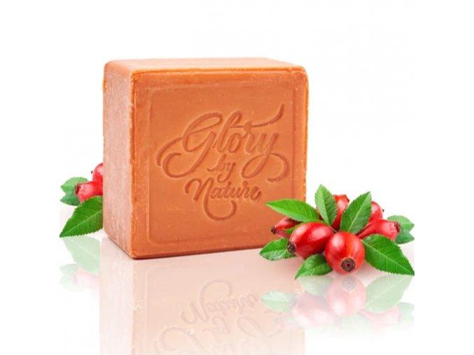glory by nature exfoliacni mydlo na oblicej red clay soap na suchou a zralou plet 80g