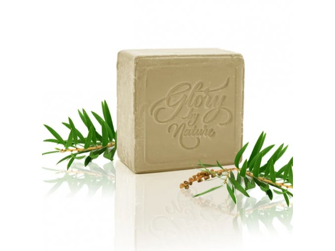 glory by nature exfoliacni mydlo na oblicej green clay soap na smisenou a mastnou plet 80g