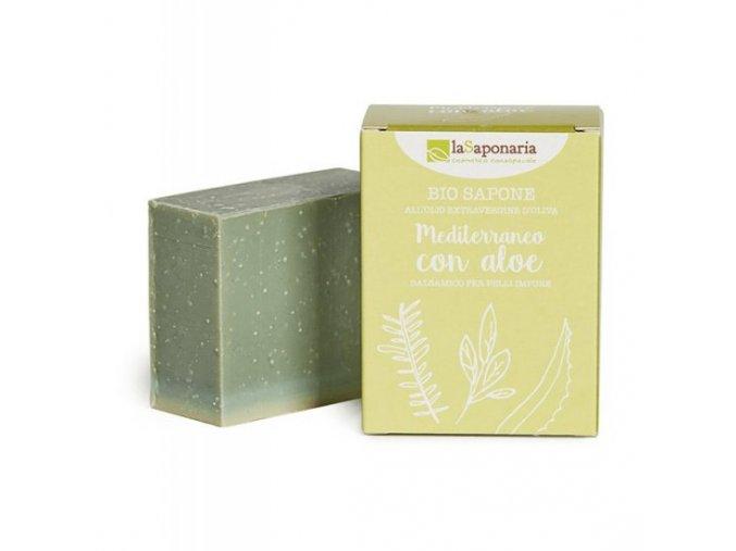 lasaponaria tuhe olivove mydlo bio stredomorske bylinky s aloe 100g