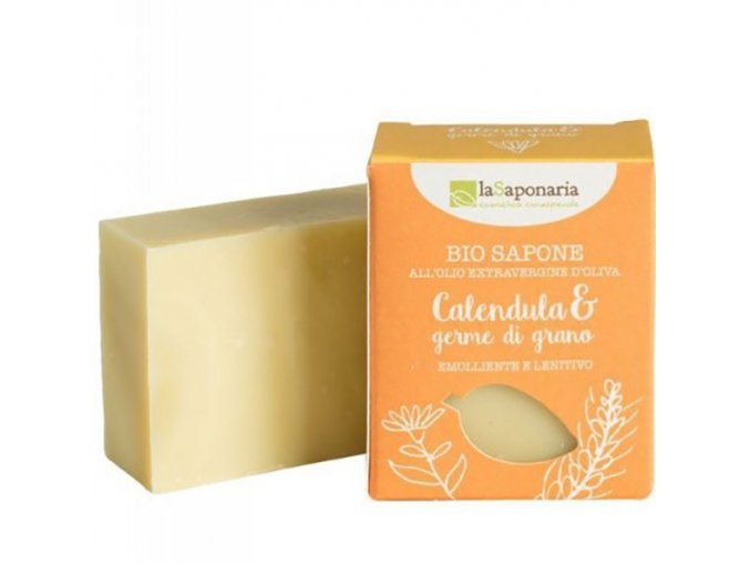 lasaponaria tuhe olivove mydlo bio mesicek a psenicne klicky 100g