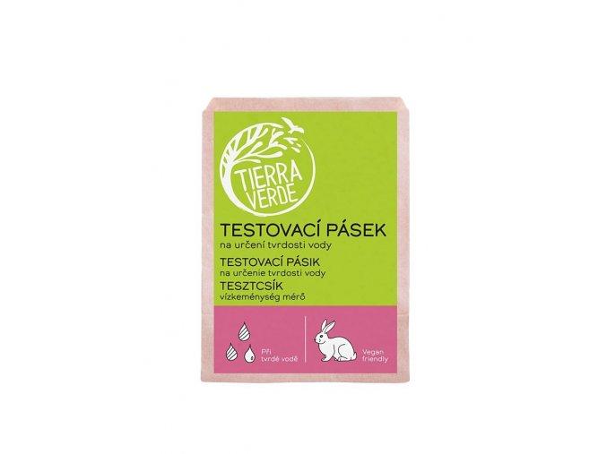 yellow blue testovaci pasek na urceni tvrdosti vody