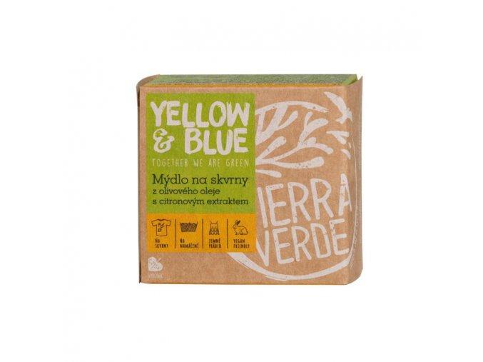 yellow blue mydlo z olivoveho oleje s citronovym extraktem na skvrny