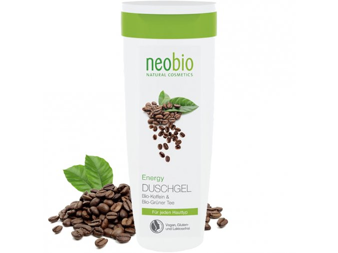 neobio sprchovy gel energy bio kofein a zeleny caj 250ml