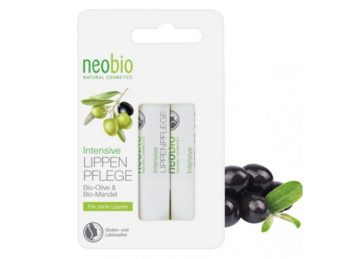 neobio neobio balzam na rty bio aloe vera oliva 2x4 8 g