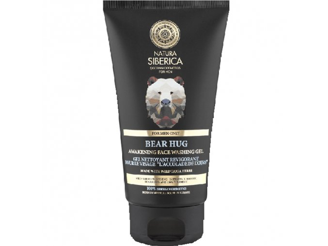 natura siberica probouzejici oplachovaci gel na oblicej medvedi uchopeni 150ml