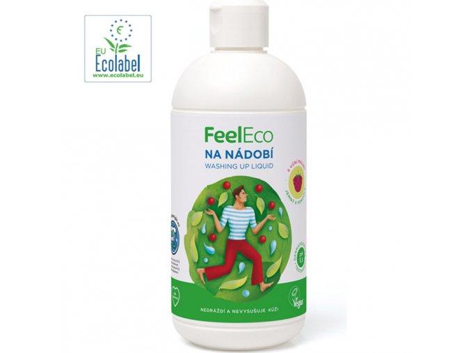 feel eco prostredek na nadobi s vuni maliny 500 ml