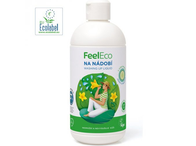 feel eco prostredek na nadobi s vuni okurky 500 ml