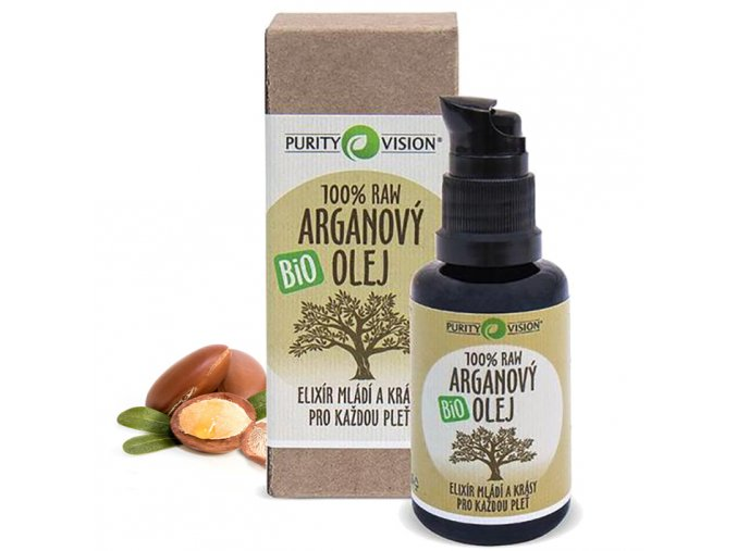 purity vision raw arganovy olej bio 30ml