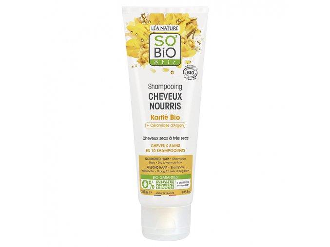 so bio etic sampon pro suche vlasy s karite a arganovymi ceramidy 250ml bio
