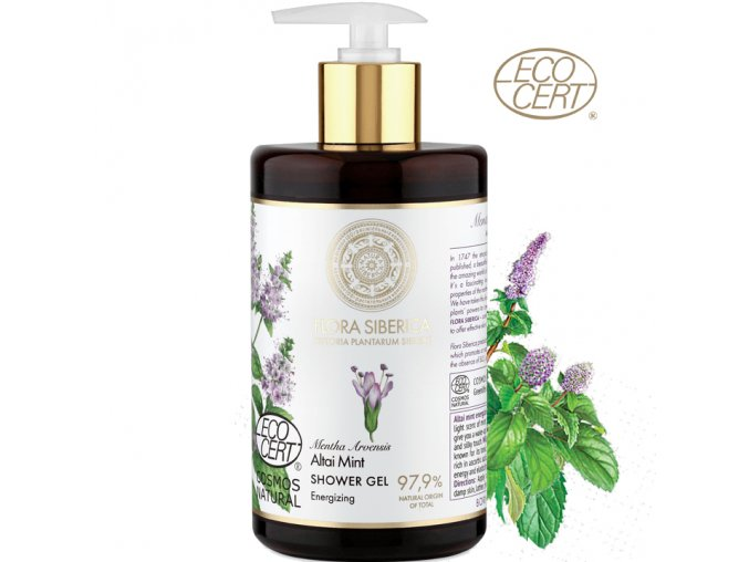 flora siberica energeticky sprchovy gel 480ml