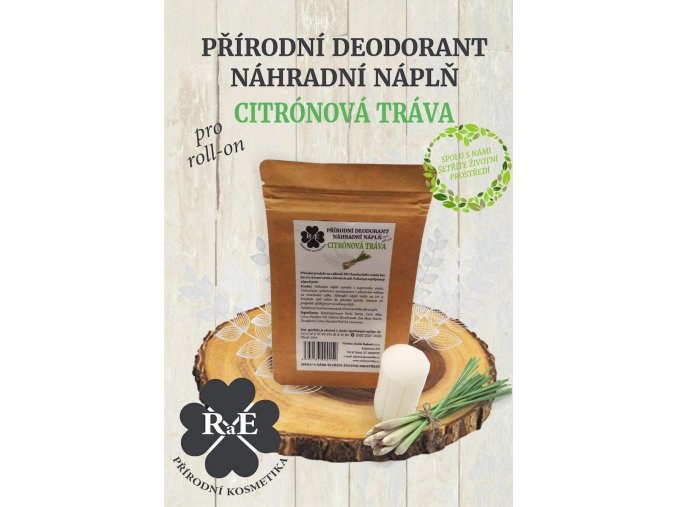 rae nahradni napln prirodni deodorant tuhy bio citronova trava