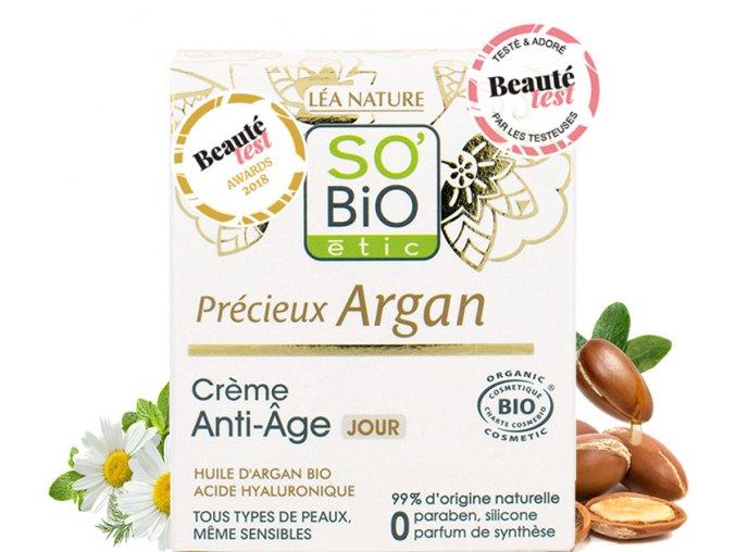 so bio etic krem denni anti age precieux argan 50ml bio