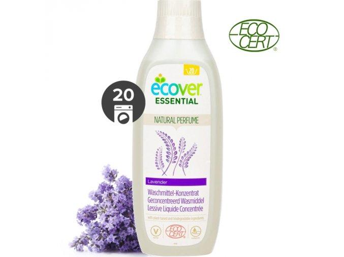 ecover essential koncentrovany praci gel levandule 1l ecocert